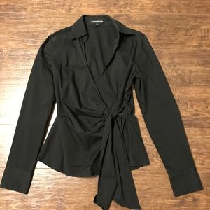 Express mock wrap shirt